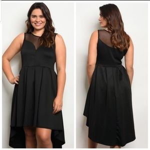 Dresses & Skirts - 🔥3x HP⚡NWT 1X-3X Black Hi-Lo Skater Dress⚡🔥